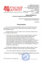 рекомендация по созданию интернет магазина Красный Дракон